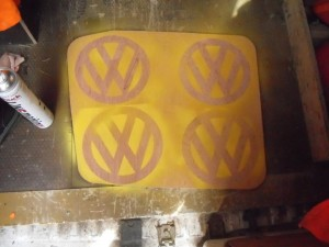 VW Embossing Logo Stencil