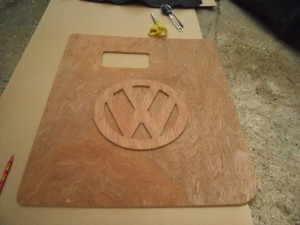VW Embossed Ply Logo